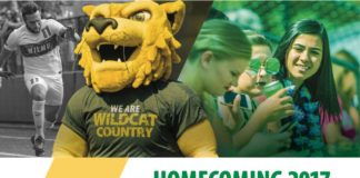 HOMECOMING 2017 EVENTS SCHEDULE Homecoming Kick-Off Party 4:00–6:00 PM • FREE Pratt Student Center, New Castle Campus Ice Cream Social 12:00–1:30 PM • FREE Pratt Student Center, New Castle Campus Wildcat Mixer—RSVP Required 5:30–7:30 PM • FREE Iron Hill Brewery*, Wilmington WilmU Idol 02 OCT 03 OCT 04 OCT 05 OCT Get your Homecoming gear at the Campus Store's many locations or online! 12:00–2:00 PM • FREE Pratt Student Center, New Castle Campus Game Day Festivities 9:00–6:00 PM • FREE WilmU Athletics Complex, Newark • Tailgating—B.Y.O.B.* • Women's Volleyball, and Women's and Men's Soccer Games • Food Truck Alley • Family Fun Zone 07 OCT Check out all the details at wilmu.edu/Homecoming. *Must be 21+ with valid state ID to drink. Your fellow Wildcats at Wilmington University remind you to please drink responsibly. Wilmington University assumes no responsibility for and prohibits alcohol intoxication (regardless of age); the unauthorized possession, use, consumption, or sale of alcohol; and driving while impaired due to alcohol consumption. WilmU is a registered trademark of Wilmington University. All rights reserved. © Wilmington University 2017.