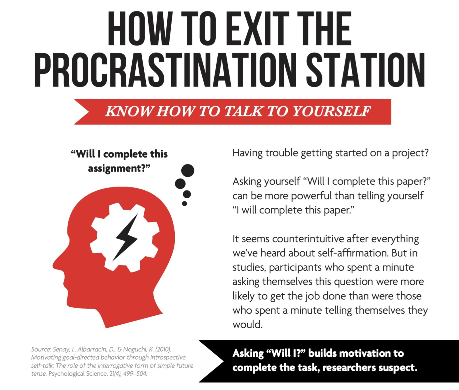 How to exit the procrastination station