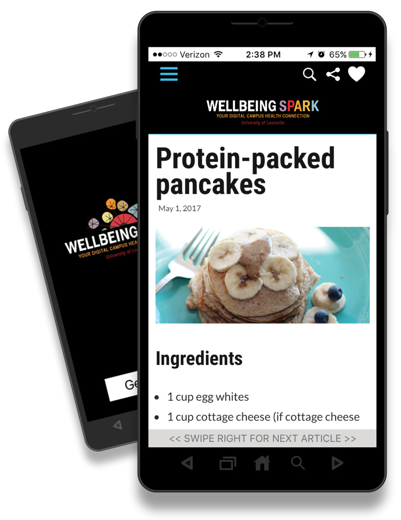 Wellbeing Spark your digital campus health connection Android Mobile App