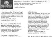 Academic Workshops Fall 2017