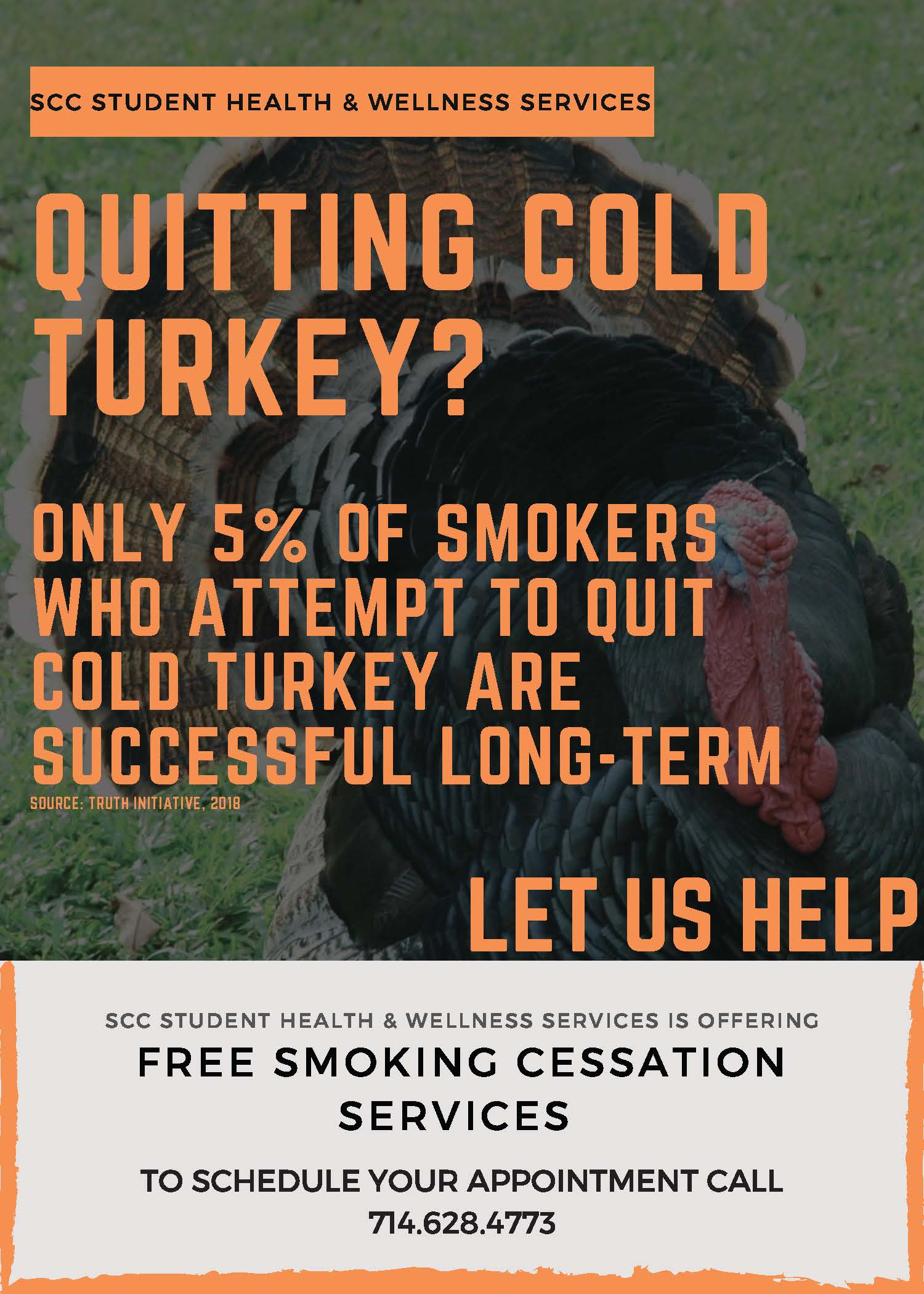 ONLY 5% OF SMOKERS WHO ATTEMPT TO QUIT COLD TURKEY ARE SUCCESSFUL LONG-TERM