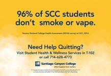 96% of SCC students don't smoke or vape
