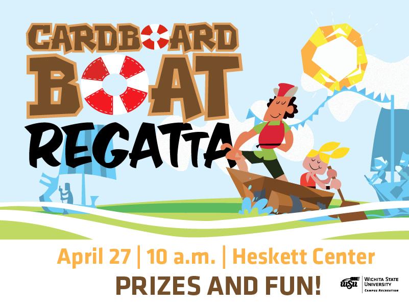Carboard Boat Regatta at the Heskett Center