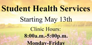 Student Health Services Summer hours