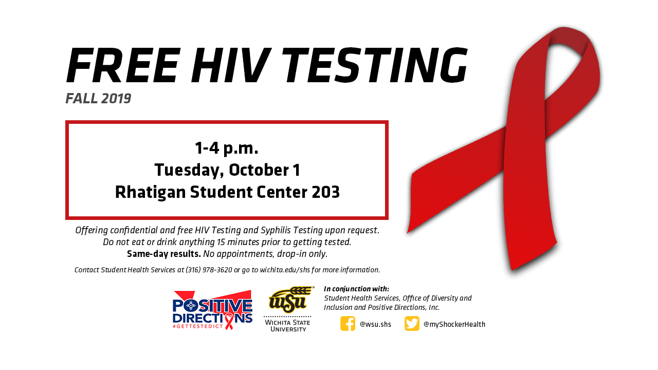 FREE HIV Testing Tuesday October 1, 1-4 p.m.