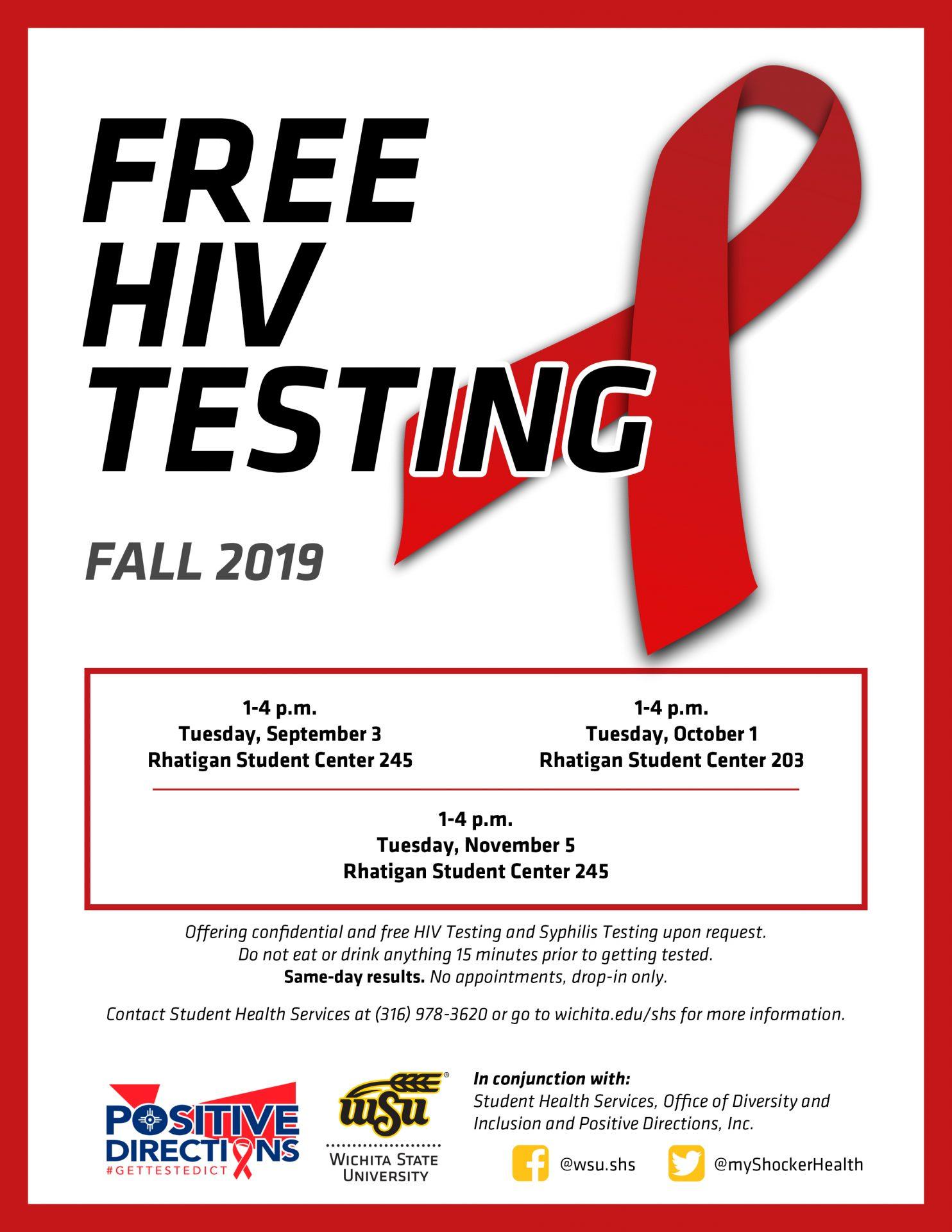 FREE HIV Testing Fall 2019