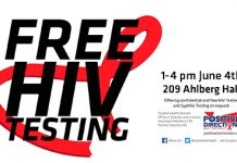 FREE HIV testing with student health