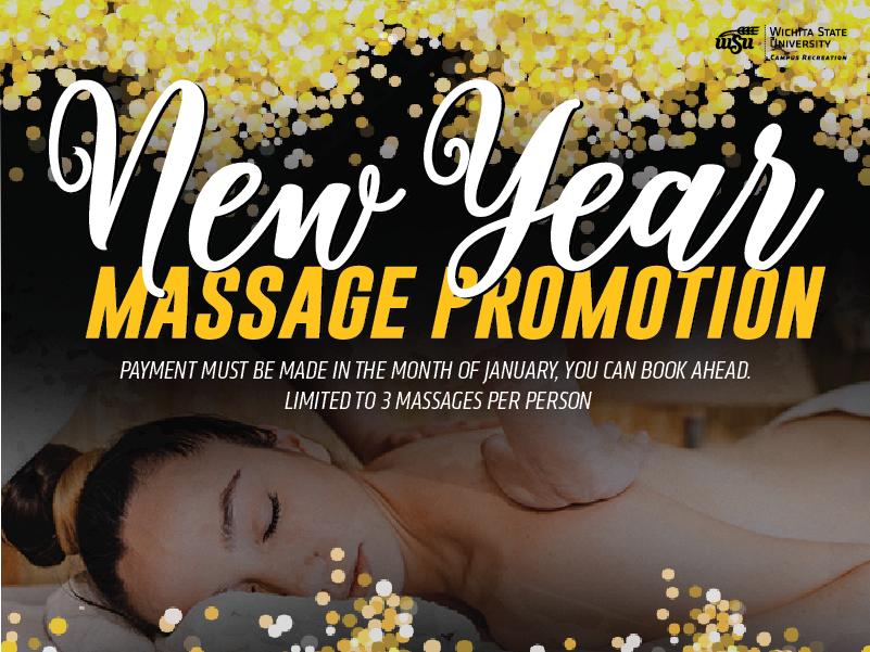 Campus Recreation Massage promotion. During the month of January take advantage of the student pricing for all!