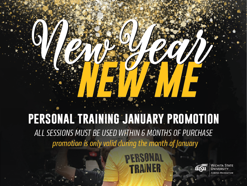 Personal Training Promotion. In the month of January only student pricing for all! You can get 12 sessions for only $240. If you refer a friend and they purchase a package you can get 2 sessions FREE! All sessions must be used within 6 months of purchase/referral.