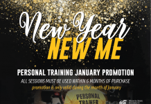 Personal Training Promotion during the month of January at the Heskett Center. Take advantage of the student pricing for all!
