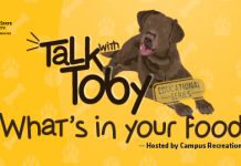 Talk With Toby What's in your food hosted by campus recreation