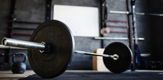 barbell in crosstraining gym