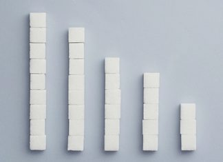 stacks of sugar cubes