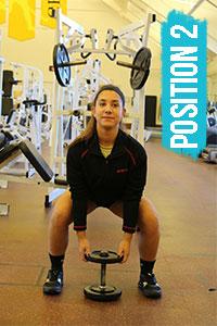 Dumbbell squat position 2