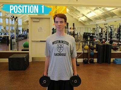 Shoulder raise position 1