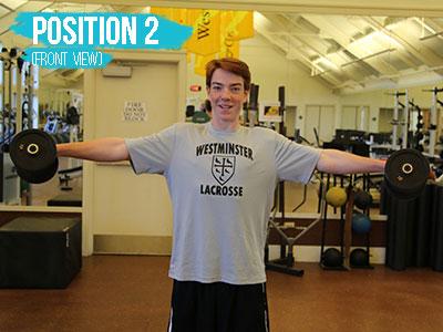 Shoulder raise position 2 front