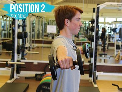 Shoulder raise position 2 side