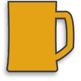 illustration of a beer mug