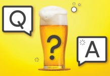 "Beer with question mark and a ""Q"" and ""A"""