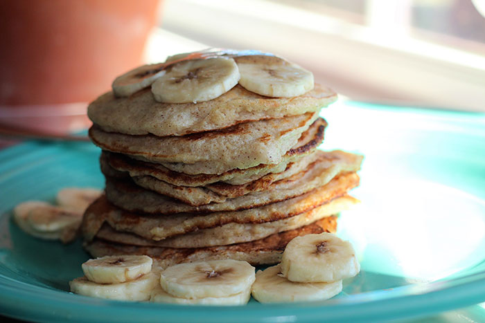 Finished stack of pancakes