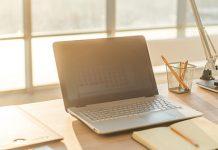 calm view of a clean desk