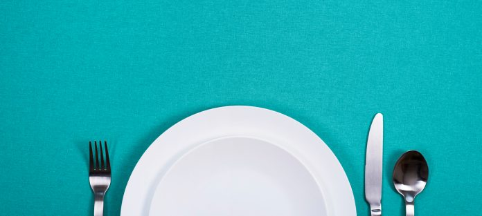 empty plate and utensils