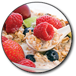 Bowl of oats and fruit
