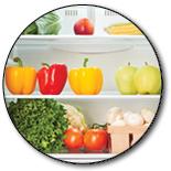 Fridge with lots of veggies