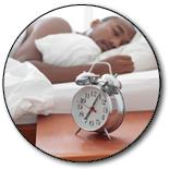 Sleeping guy with alarm clock