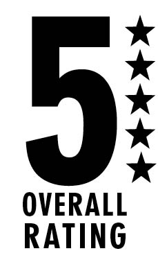 5 our of 5 star rating