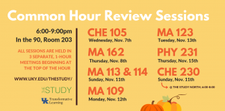The Study's Common Hour Review Sessions