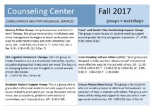 Counseling Center Groups & Workshops