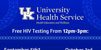 Free HIV Testing from 12-3 pm on Nov. 7 at the UHS PAWS Center and Dec. 5 at the Office of LGBTQ* Resources - Suite A250 Student Center