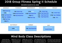 Mind Body Schedule