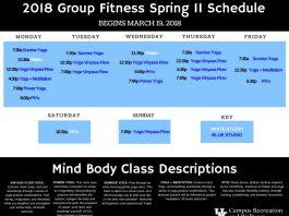 Mind Body Schedule