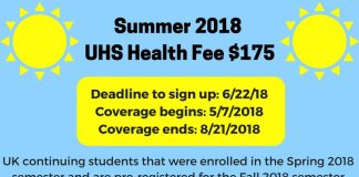 Summer Health Fee