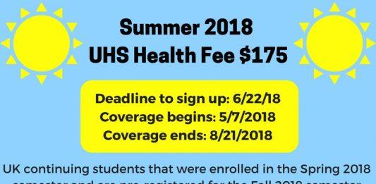 Summer Health Fee