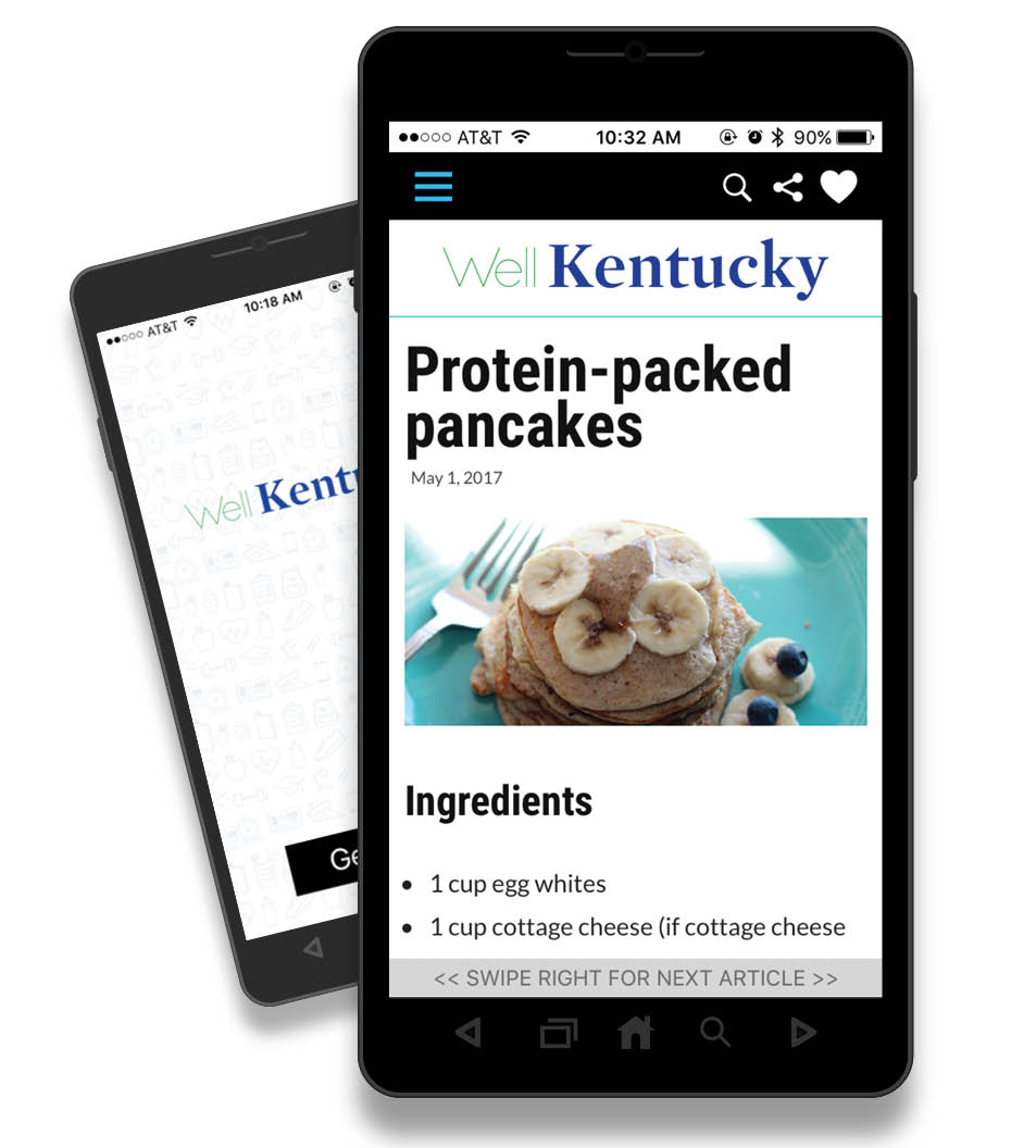 WellKentucky Mobile App on an Android Phone