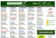 September's Group Ex Schedule