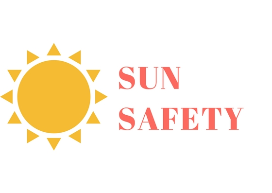 Sun Safety with picture of a sun.