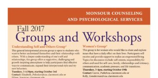 MCAPS Fall 2017 Groups and Workshops