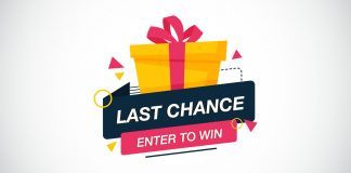 Last chance to enter to win