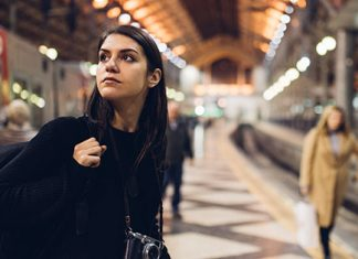 girl looking around the underground | study abroad tips