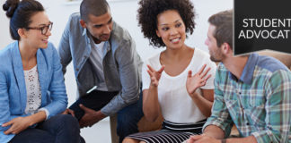 student advocate: group in casual discussion