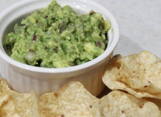 fresh guacamole and chips
