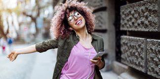 woman enjoy walk outside | single on valentine's day