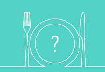 dinner plate with question mark | eating disorder awareness month