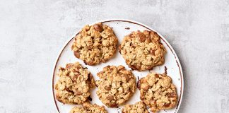 oat cookies on plate | breakfast cookie recipe