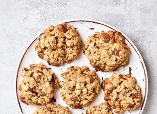 oat cookies on plate | breakfast cookie recipe