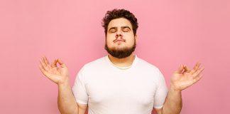 white male meditating | box breathing